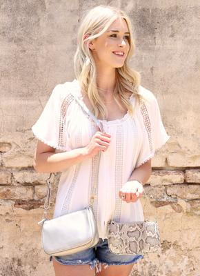 {Last Chance} Caroline Hill Cyrus Double Crossbody Bag **FINAL SALE**