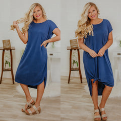 *NEW* By The Sea Midi Dress ~ Snorkel Blue