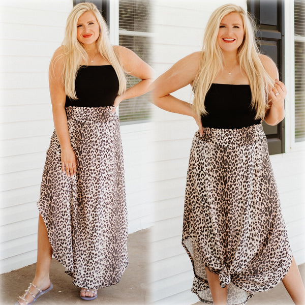 Harley Animal Print Maxi Skirt