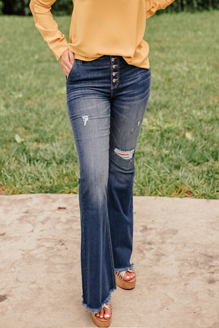 Kancan Feelin' Good High Rise Flare Jeans