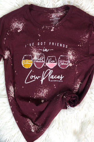 *NEW* Wine & Friends Graphic Tee ~ Burgundy - ShopBeYouBoutique