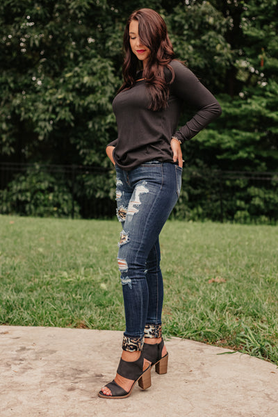 {Last Chance} Kancan Holly Leopard Mid Rise Skinny Jeans ~  **FINAL SALE**