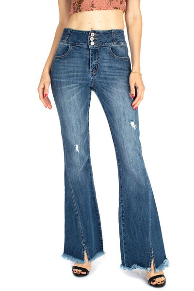 Kancan Huntington Flare Jeans ~ Medium Wash - Be You Boutique