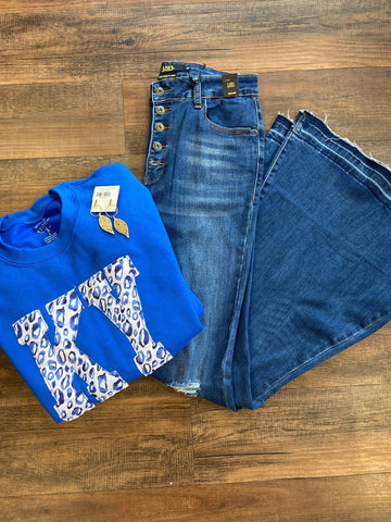 *NEW* Royal KY Blue Leopard Sweatshirt