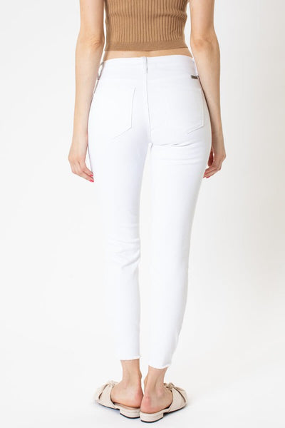 Kancan Hazy Mid Rise Ankle Skinny Jeans