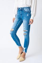 Kancan Tatum High Rise Distressed Ankle Skinny Jeans