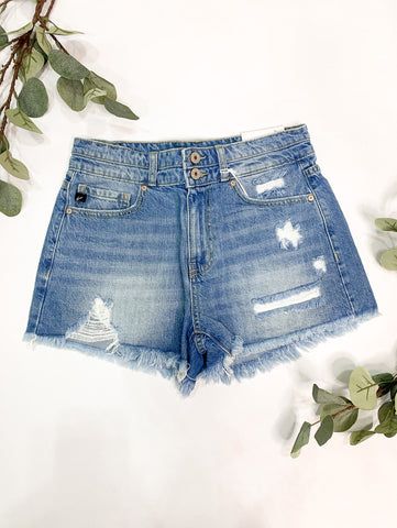 *New* Kancan Farrah High Rise Mom Shorts