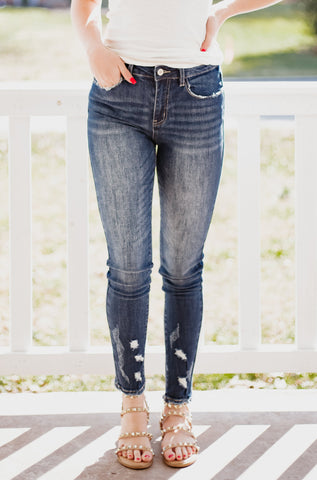 *New* Kancan Zimmerman High Rise Ankle Skinny Jeans
