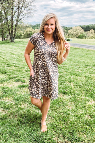 Haley Animal Print Swing Dress