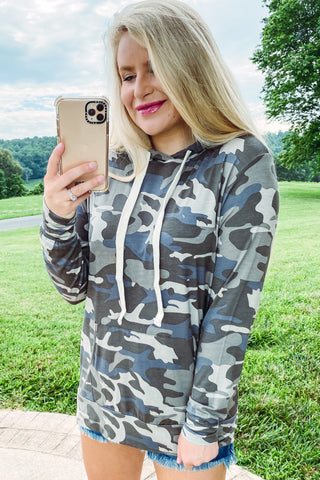 *New* Josie Camo Hoodie with Pocket **SPECIAL FINAL SALE**