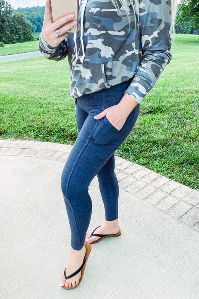 *NEW* Vanessa Wide Waist Bank Leggings with Pockets **AMAZING DEAL ~ FINAL SALE**