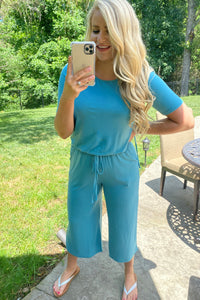 *NEW* Khloe Capri Jumpsuit with Pockets **SPECIAL FINAL SALE**