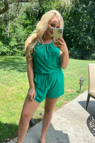 {Last Chance} Ariel Romper with Back Keyhole  **SPECIAL FINAL SALE**