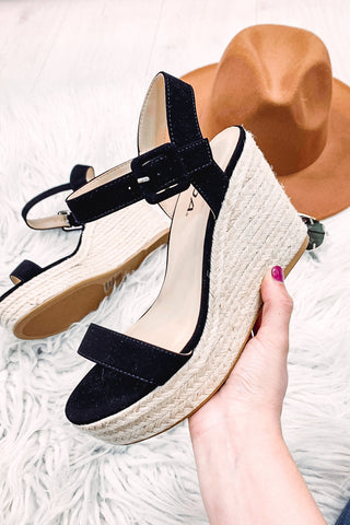 Replay Wedge Sandals ~ Black