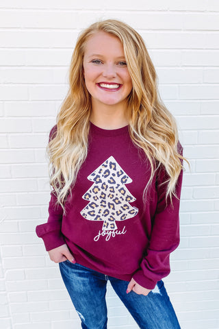 {Last Chance} Leopard Christmas Tree Sweatshirt **FINAL SALE**