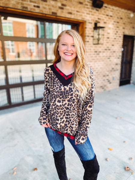 *NEW* Juliana Fleece Leopard Pullover