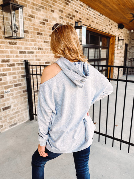 Diana Oversized Cut Out Hoodie