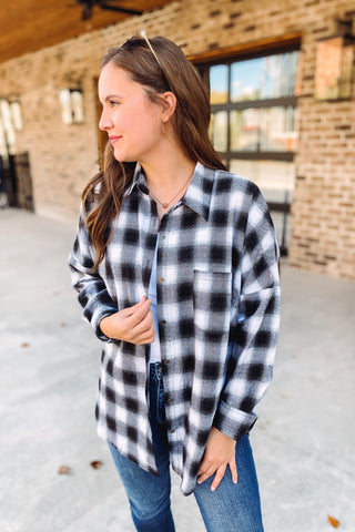 {Last Chance} Hope Plaid Flannel **FINAL SALE**