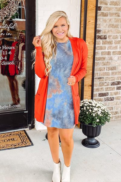 {Last Chance} Tilly Tie Dye Fall Dress **FINAL SALE**