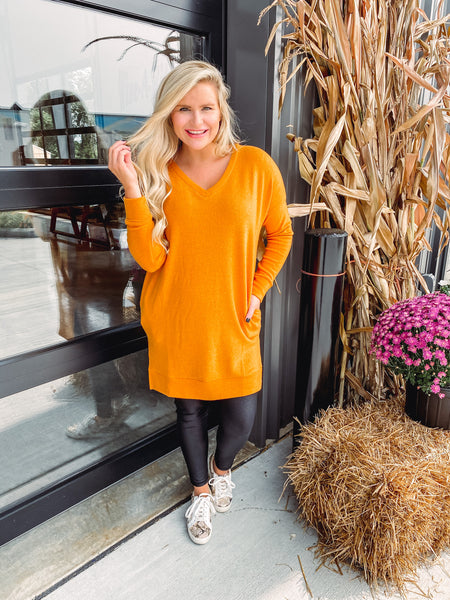 Michelle Long Sleeve Brushed Melange Sweater **AMAZING DEAL ~ FINAL SALE**