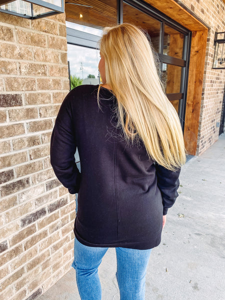 Holly V Neck Long Sleeve Sweatshirt **AMAZING DEAL ~ FINAL SALE**