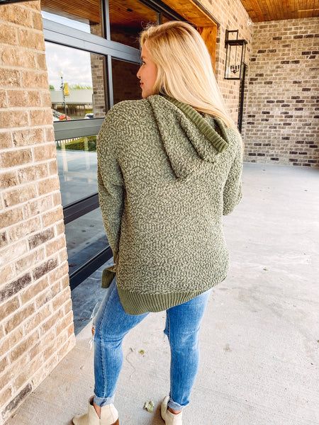 Sloane Popcorn Hoodie with Side Slits **BLACK FRIDAY SPECIAL ~ FINAL SALE**