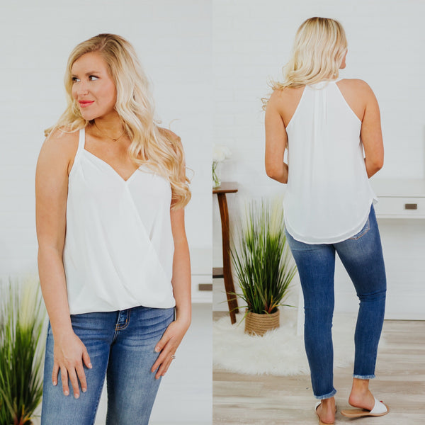 {Last Chance} Ollie Overlap Tank ~ Off White