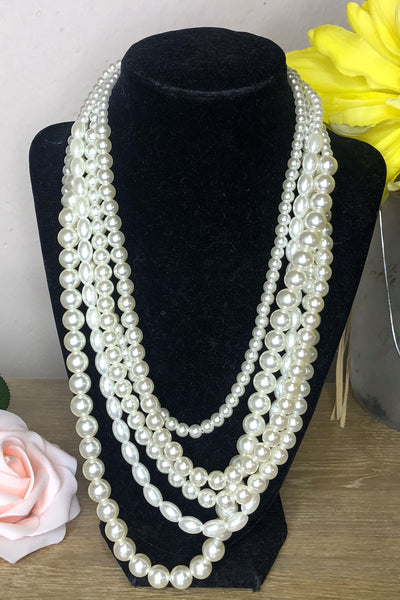 Grace Multi-Layered Pearl Necklace
