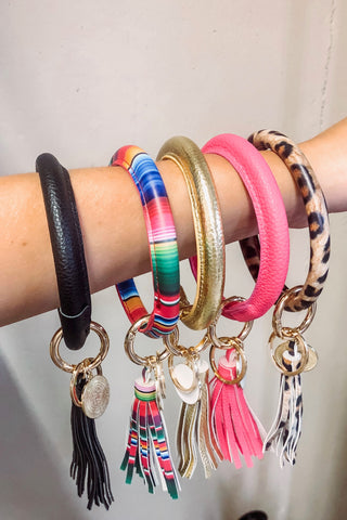 *New* Bravo Bracelet Key Chains with Tassel ~ Multi - ShopBeYouBoutique