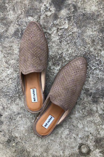 {Last Chance} Not Rated Maryam Mules ~ Taupe - Be You Boutique