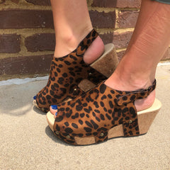 Picadillo Wedge Sandals ~ Leopard