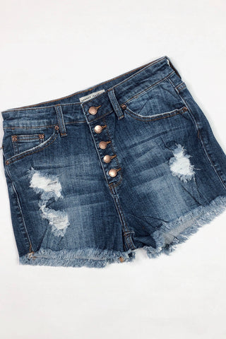 *NEW* Summer Fun Button Down Denim Shorts