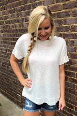 All A Flutter T Shirt ~ Ivory