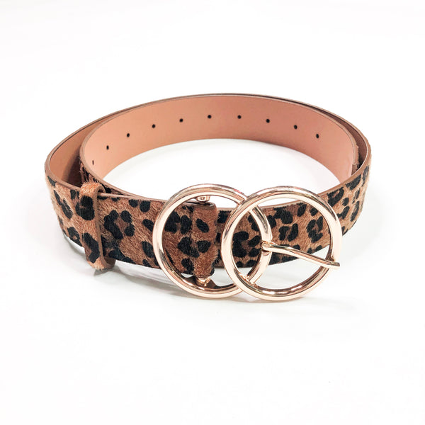 Bianca Leather Belt ~ Leopard - Be You Boutique