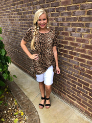 Leopard Knot Tee ~ Crazy Train