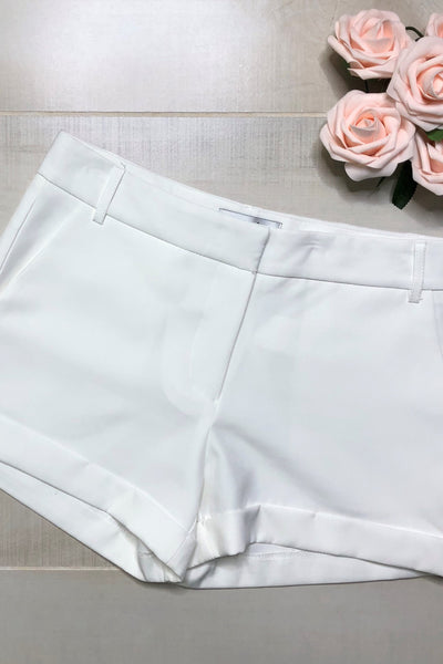 Kara Solid Shorts ~ White