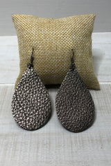 Metal Drops ~ Leather Earrings