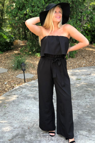 Eleanor Tube Top Jumpsuit ~ Black
