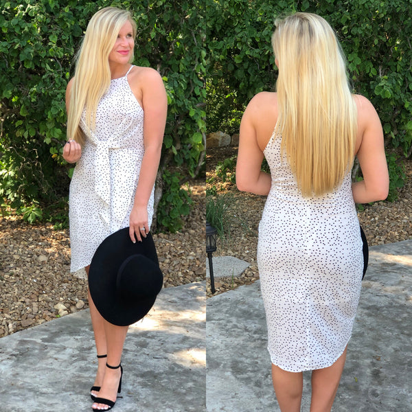 {Last Chance} Aurora Twist Front Dress ~ Off White