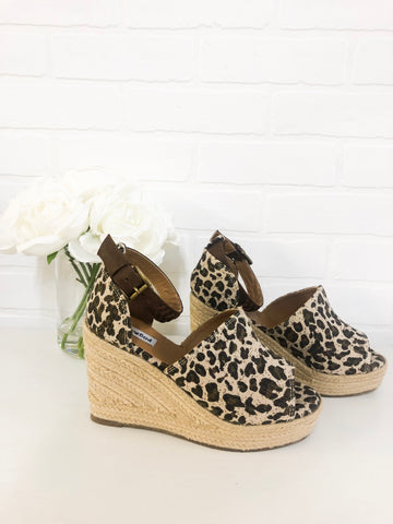 {Last Chance} Not Rated Leif Wedges ~ Leopard *FINAL SALE* - Be You Boutique