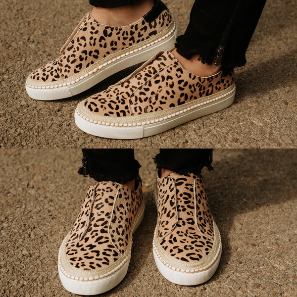 Corkeys Cologne Step In Sneakers ~ Leopard
