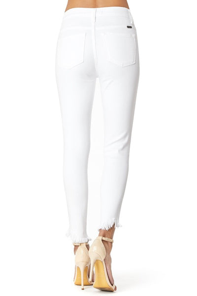 *NEW* Kancan Reese High Rise Ankle Skinny ~ White - Be You Boutique