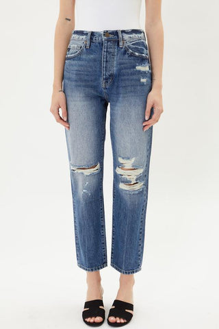 Kancan Silvana High Rise 90s Boy Friend Fit Jeans