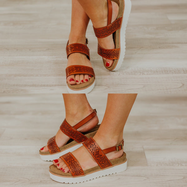 {Last Chance} Not Rated Anatalia Platform Sandals ~ Tan *FINAL SALE*