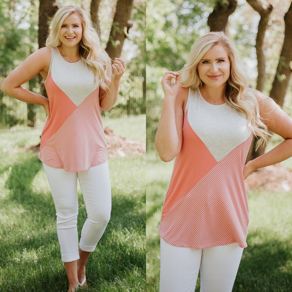 {Last Chance} Serenity Sleeveless Color Block Top *FINAL SALE*