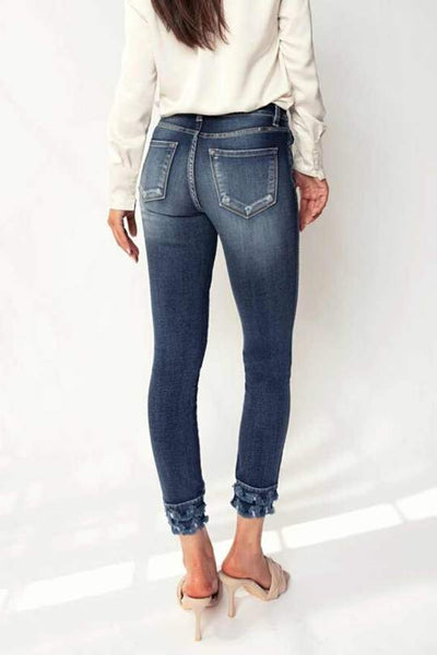 Kancan Trinity High Rise Double layer Frayed Hem Ankle Skinny