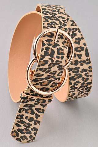 Bianca Leather Belt ~ Light Leopard - Be You Boutique