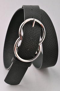 *NEW* Bianca Leather Belt ~ Black Snake - ShopBeYouBoutique