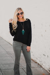*NEW* Lonnie Long Sleeve Top ~ Black