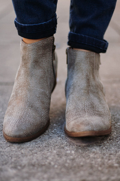 {Last Chance} Not Rated Priscilla Booties ~ Grey